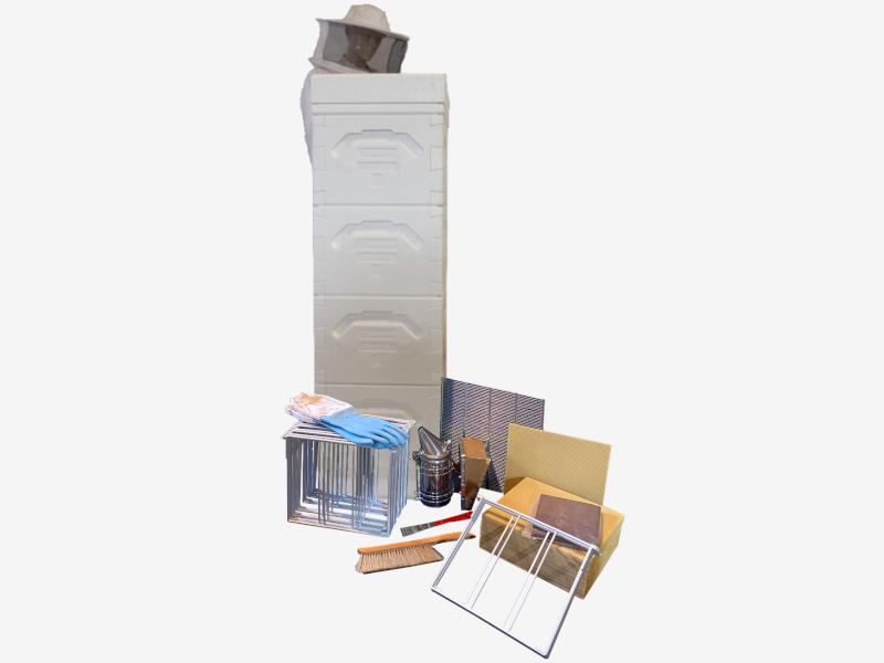 Beginners Kit (white): Langstroth 1/1